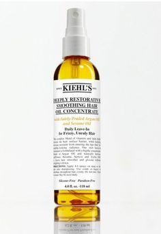 Cheveux bouclés : Deeply restorative smoothing hair oil concentrate de Kiehl's - Shopping spécial cheveux bouclés ou frisés: Les meilleurs produits