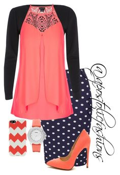 """""""Apostolic Fashions #1221"""" by apostolicfashions on Polyvore featuring River Island, City Chic, FOSSIL and Agent 18"""