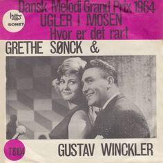 """Ugler i mosen"" performed by Gustav Winckler and Grethe Sønck at the Danish National Final for Eurovision 1964."