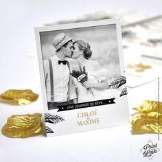 ♦︎ LOT DE 50 REMERCIEMENTS - Mariage - Original - Style Fleuri - Pivoine : Faire-part par printyourlove