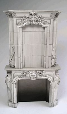 Victorian fireplace - gray