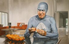 Juxtapoz Magazine - Best of 2013: Portraits of an Elderly Superhero by Andreas Englund
