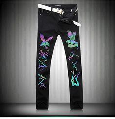 >> Click to Buy << 2017 b man new arrival  glow black animal denim jeans 1388 #Affiliate
