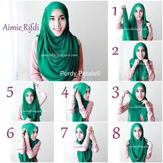 How to wear hijab tutorials shawl simple 57 ideas Square Hijab Tutorial, Simple Hijab Tutorial, Hijab Simple, Hijab Style Tutorial, Hijab Chic, Stylish Hijab, Niqab, Kebaya, Beau Hijab