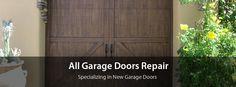 Garage door service and repair, new garage door installation. Quality service Licensed and Insured. https://www.allgaragedoorsrepair.com/index.php