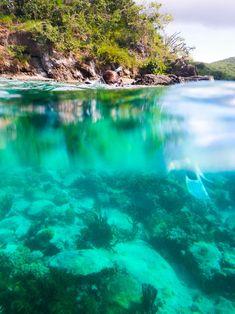 St John - snorkeling off of Waterlemon Cay