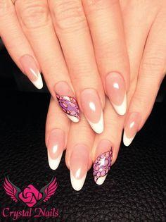 #foliendesig #gelmalerei #flower #royalgel #colorgel #nageldesign #wien #nails #nailart #crystalnails #vienna
