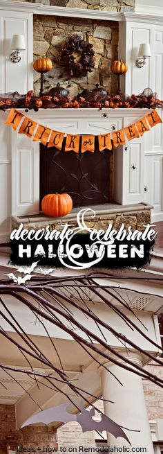 Enjoy the frights of the season with these high-impact but simple Halloween decor ideas and tutorials. Spooky and fun for the whole family! Halloween Mantel, Diy Halloween Games, Easy Halloween Decorations, Halloween Home Decor, Holidays Halloween, Halloween Party, Halloween Projects, Halloween Recipe, Women Halloween