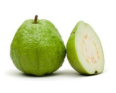 """Guava: The pebbly skin of this Brazilian fruit can be green or purple, and its soft flesh can range from stark white to bright pink. Guava's complex flavor is """"honey-sweet and funky,"""" with hints of """"berry and pear"""" mixed with """"gym socks."""" Fresh guavas are riddled with rock-hard seeds and are highly susceptible to fruit fly infestation: We recommend sticking with prepared guava juices or purees."""