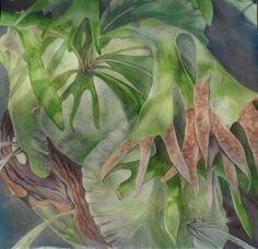 Staghorn Fern by PaintingsByBecki on Etsy, $90.00