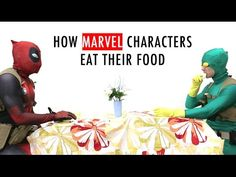 How Marvel Characters Eat Their Food--So funny! Make sure you watch till the end if you like Guardians of the Galaxy :D