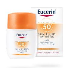 Eucerin Sun Face Fluid SPF 50 50ml. matte under makeup