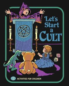"""Let's start a cult! First order of business: cult leader says """"buy this shirt right now!"""" Shirts are unisex, women may want to order a size down. Printed on tri-blend shirts for an ultra-soft feel. Designed by Steven Rhodes. Bizarre Kunst, Bizarre Art, Arte Horror, Horror Art, Aesthetic Art, Aesthetic Pictures, Just Kids, Satanic Art, Bedtime Stories"""