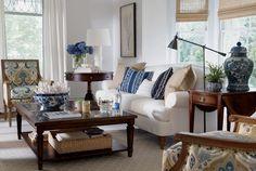 Interior Design Trends: Blue. Ethan Allen's take on blue decor.