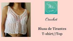 Top Tejidos A Crochet, Crochet Crop Top, Tunisian Crochet, Sewing Patterns, Crochet Patterns, Crochet Beanie Pattern, New Balance Women, Crochet Shoes, Crochet Videos