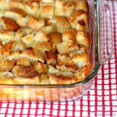 Overnight French Toast Casserole with Cream Cheese - a perfect make ahead breakfast!