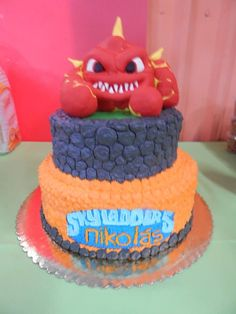 Skylanders cake featuring Trigger Happy not just cakes by annie