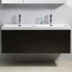 Virtu Zuri 54.7 Double Bathroom Vanity Set | Wayfair