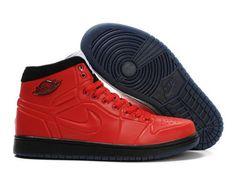 F4T6J085 authentique Nike Air Jordan 1 Retro Chaussures Tous Rouge Chaussures Hommes, nike air jordan retro 1 pas cher