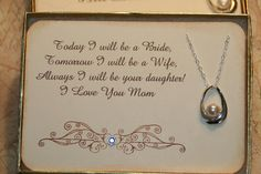 Mother of the Bride Card w Pearl Necklace by GreenAcresCottage, $38.00