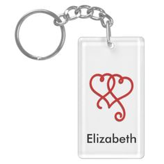 Linked Swirly Hearts - Also available in my Zazzle store like on this Rectangle Acrylic Keychain