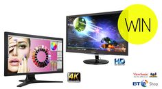 Win one of these ViewSonic monitors worth over £800 with BT Shop