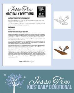 Crazy Kids Bible Devotional: Jesse Tree Day 22 | My Favorite Kind of Crazy