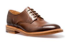 NPS Gibson Shoe. Dark brown coloured derby shoe. Handmade in Britain. Available at www.shoes121.co.uk.