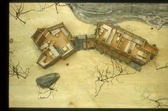 Knut Knutsen, Casa Estiva Portor, Portor, Norway, 1946 – Atlas of Interiors Scandinavian Architecture, Norway, Architecture Models, Ark, Interior, Green, Painting, Google Search, House