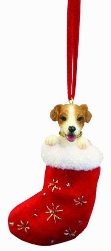 Jack Russell Terrier Stocking Ornament - http://www.thepuppy.org/jack-russell-terrier-stocking-ornament/