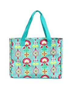 """Out & About - Wallflower 18""""W x 14""""H x 9""""D EARLY RELEASE - Large, open tote with double handles, side snaps and reinforced bottom. Two webbing handles with 11"""" drop. Lightly padded."""