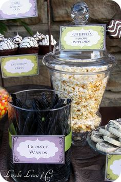 My Harry Potter Party 2010 – Loralee Lewis Harry Potter Desserts, Harry Potter Candy, Harry Potter Fiesta, Cumpleaños Harry Potter, Harry Potter Halloween Party, Harry Potter Wedding, Harry Potter Christmas, Harry Potter Birthday, Harry Potter Baby Shower