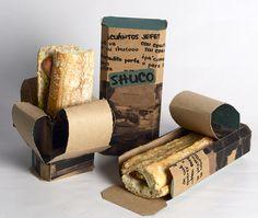 Excelente packaging para sanduches