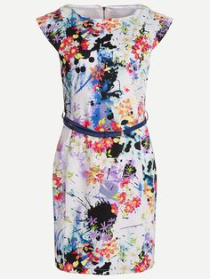 Shop Floral Print Sheath Dress With Belt online. SheIn offers Floral Print Sheath Dress With Belt & more to fit your fashionable needs.
