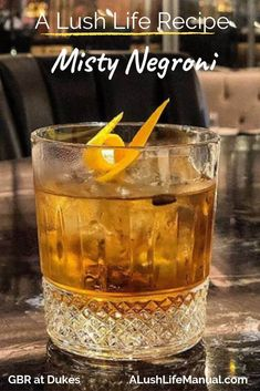 This easy cocktail recipe which is a twist on the standard Negroni, includes DOM Benedictine, Martini and Ardbeg 10, the coffee beans add that wow factor. #Negroni #Cocktail #Recipe #easy #Whiskey