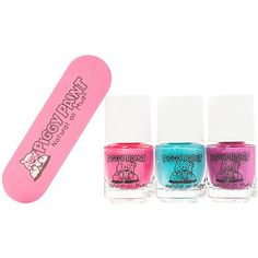 Piggy Paint Nail Polish & File, Forever Fancy, Girls Rule, and Sequin Nail Polish Ingredients, Friendly Nails, Tree Artwork, Neem Oil, Acetone, Metal Tree, Girls Rules, Nail File, Cute Nails