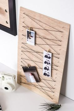 Minimalist Clothespin Memo Board Minimalist Clothespin Memo Board,Boys room Create a simple clothespin memo board to keep important notes or display your favorite pictures with this easy DIY idea.