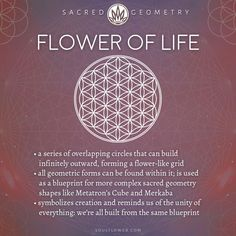 Flower of Life Meaning - Sacred Geometry - Soul Flower (Soulflower Clothin . - Flower of Life Meaning – Sacred Geometry – Soul Flower (Soulflower Clothing) – - Sacred Geometry Meanings, Sacred Geometry Tattoo, Symbols And Meanings, Symbols Of Life, Spiritual Symbols, Sacred Symbols, Sacred Art, Cloud Pattern, 3d Pattern