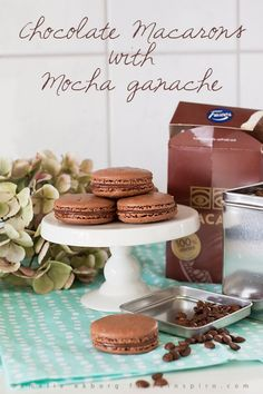 Chocolate Macarons with Mocha Ganache http://blog.florainspiro.com