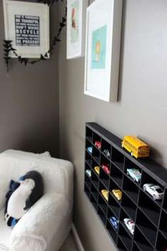 Must have for boy's room: a place to store and display Matchbox Cars!