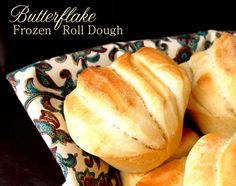 """Butterflake FROZEN Roll Dough- JamieCooksItUp---  """"Freezing the dough is a must…the rolls don't turn out as fluffy and heavenly if the dough hasn't been frozen.""""   Pre-make for Thanksgiving???"""