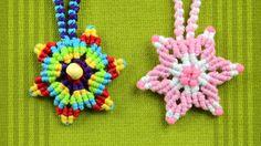How to Make a Macrame Star Flower / Tutorial
