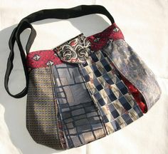 necktie projects | Sewing Ideas | Project on Craftsy: Caitlyn Handbag from ...