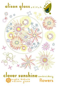 Clover Sunshine Embroidery - Flowers – Red Thread Studio