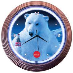 Vintage Sign Shack - Coca Cola Polar Bear Neon Clock, $89.95 (http://www.vintagesignshack.com/coca-cola-polar-bear-neon-clock.html)