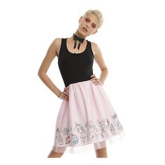 Black Pink Tulle Party Dress Hot Topic ($40) ❤ liked on Polyvore featuring dresses, vintage cocktail dresses, cocktail party dress, fitted dresses, pink fit-and-flare dresses and tulle dress