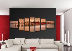Tablouri bridge 1401 Dimensiuni: 2x 50x45 - 2x 30x75 - 2x 30x85 - 1x 30x95 cm Total: 250x95 cm Modern, Table, Furniture, Home Decor, Trendy Tree, Decoration Home, Room Decor, Tables, Home Furnishings