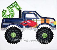 truck 5 Applique Embroidery Design