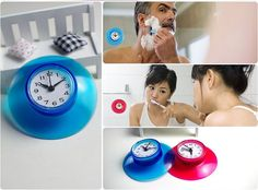 Waterproof Bathroom Clock With Suction Cup