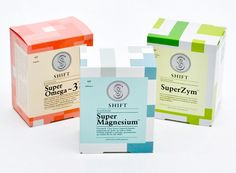 Shift is a Norwegian brand of high quality supplements from Vitalkost that aims to alter category convention and perception with a clearer and more open presentation of information and encourage a more critical consumer approach to supplement choice. Designed by Ghost.